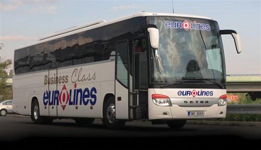 На фото изображен автобус компании Евролайнс