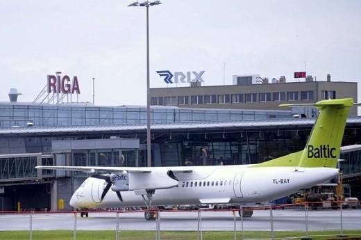 На фото аэропорт Рига