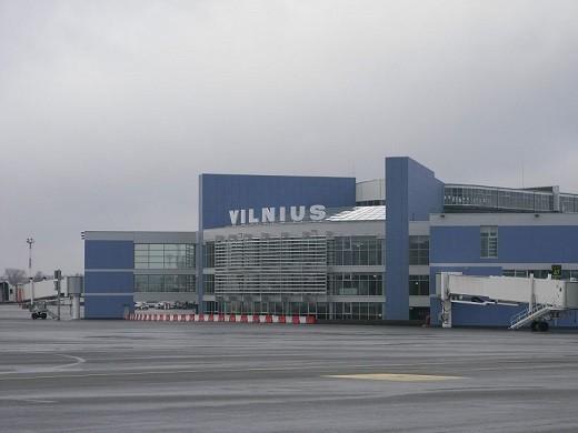 На снимке Вильнюсский международный аэропорт