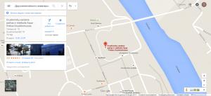 На фото карта с местоположением аквапарка