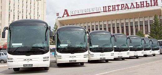 На снимке автобусы Минсктранс