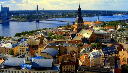 Район старой Риги на фото