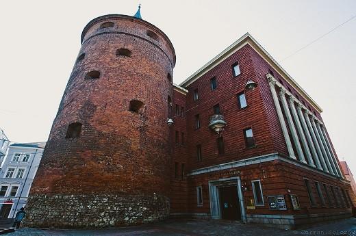 На снимке латвийский военный музей