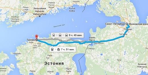 С маршрутом движения рейсовых автобусов «Санкт-Петербур-Таллин», можно ознакомиться на фото