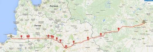 На карте виден маршрут движения этих поездов
