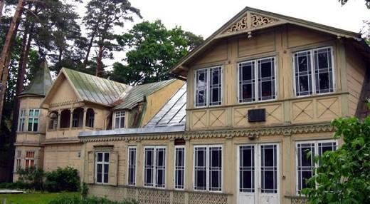 Дом Аспазии и Райниса на снимке