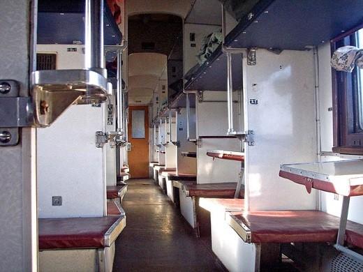 Общий вагон, включенный в состав поезда 001Р Латвия Экспресс, представлен на снимке