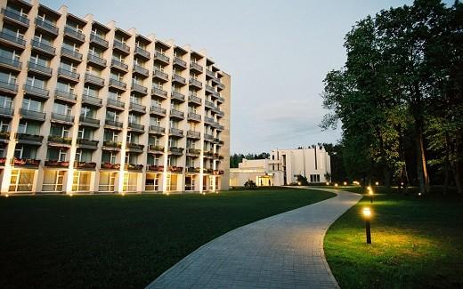 На фотографии изображен отель Спа Вильнюс