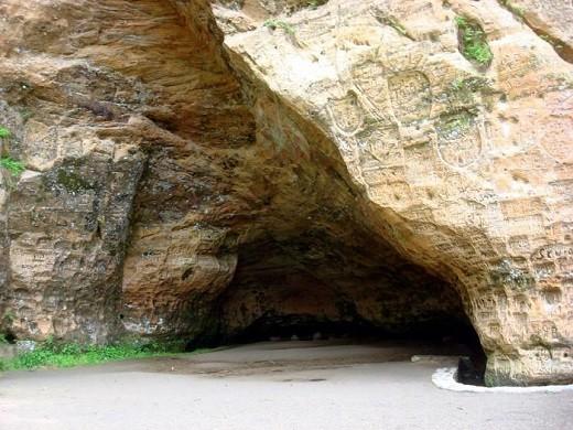 На снимке изображена пещера Гутманя