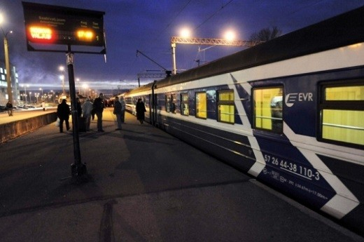 На снимке изображен поезд 034Х Таллин-Москва