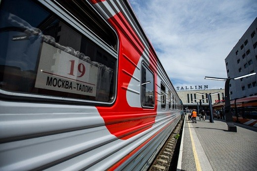Поезд 34А Москва-Таллин представлен на фото