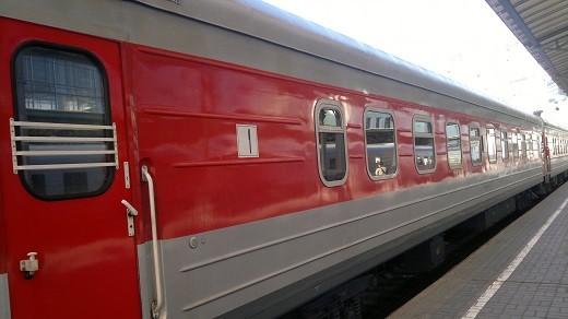 На фото изображен поезд №005Т Москва-Вильнюс