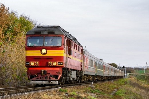 На снимке изображен поезд №147 Москва-Калининград