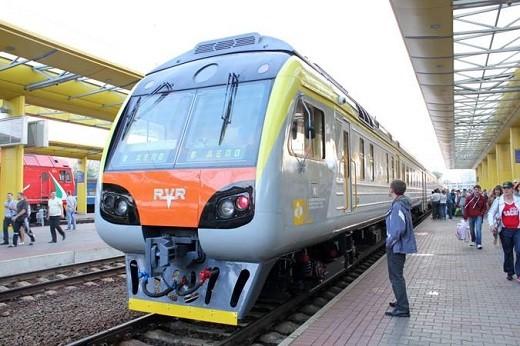 На снимке представлен дизель-поезд Минск-Вильнюс