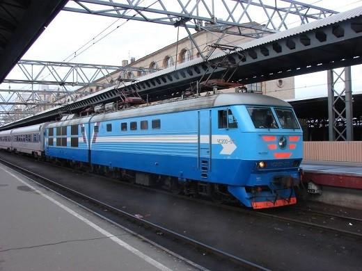 На снимке представлен поезд Санкт-Петербург - Таллин