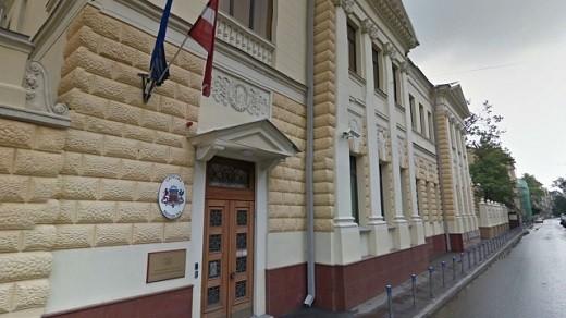 На фото изображено посольство Латвии в Москве