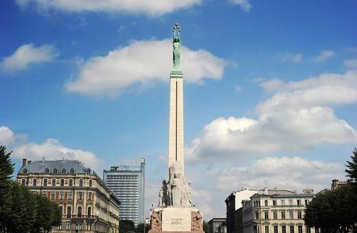 На снимке изображена Рижская Статуя Свободы