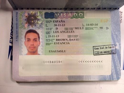 На фото шенгенская виза категории D