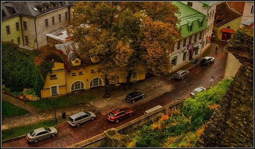 На снимке представлен Таллин осенью