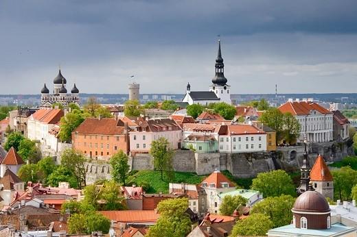 На снимке представлена панорама Таллина