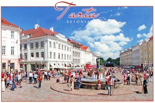 На фото главная площадь города Тарту