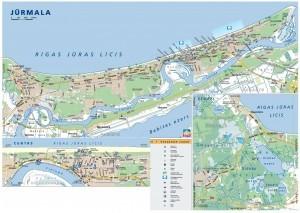 Карта достопримечательностей Юрмалы на русском языке