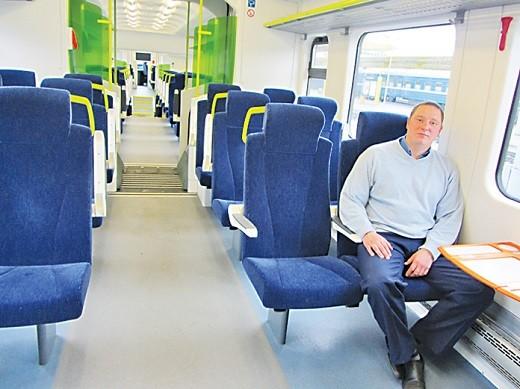 На снимке представлен салон вагона 1 класса поезда № 801/802