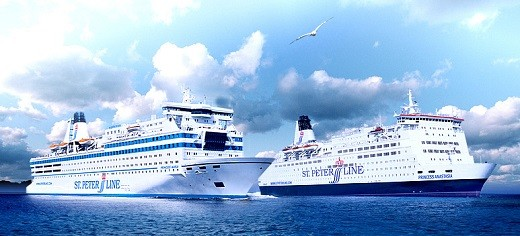 На снимке PETER LINE – морские круизы на пароме из Санкт-Петербурга в Хельсинки, Стокгольм, Таллин