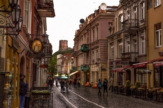 На снимке весенний Вильнюс