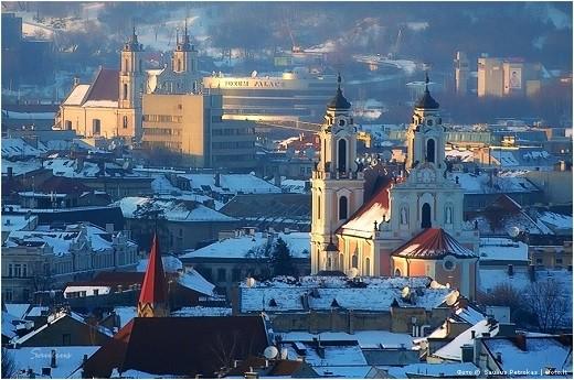На фото зимний Вильнюс