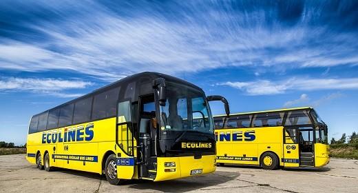 Автобус Москва Рига Еcolines на снимке