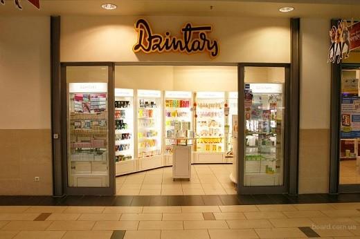 Магазин косметической компании Дзинтарс на снимке