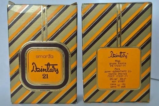Туалетная вода Дзинтарс-21 на снимке