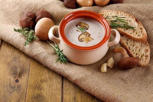 Грибной суп на фото
