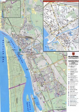 Карта Клайпеды на изображении