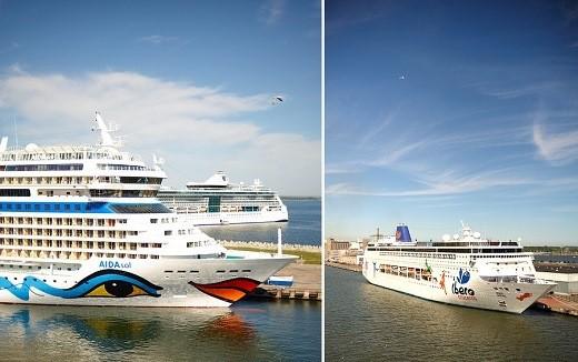 На фото изображен лайнер, на котором совершают круизы по Балтийскому морю