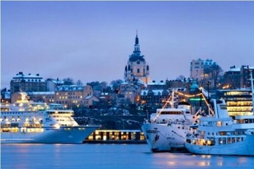 На фотографии изображен паром Таллин-Хельсинки