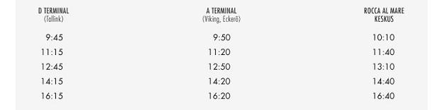 На фото можно посмотреть расписание автобусов, идущих по рейсу Порт-Зоопарк (торговый центр Rocca Al Mare)