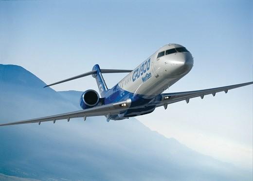 На снимке представлен самолет CRJ900 NextGen