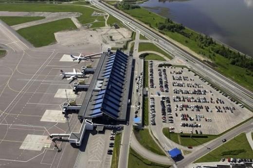 На снимке аэропорт Таллина с высоты птичьего полет