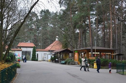 На снимке вид на зоопарк изнутри