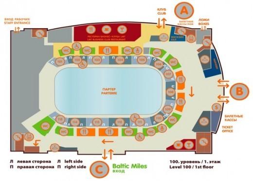 На снимке показана схема первого уровня комплекса