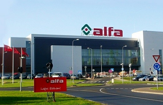 Alfa - Рижский торговый центр на фотографии