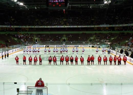 Хоккейный зал в комплексе Арена Риги на снимке