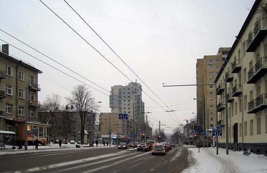 Район Антакальнис зимой на фото