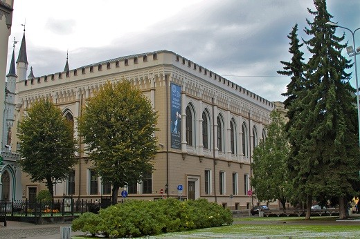 На фото представлена Большая гильдия в Риге