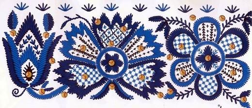 На фото национальный эстонский узор