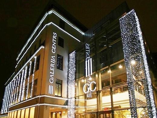 Торговый центр Galerija Centrs расположен в старой Риге