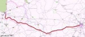 Маршрут Москва - Рига на карте