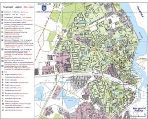 На рисунке представлена карта Нарвы на русском языке
